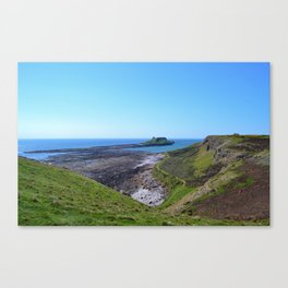 Worms Head with Causeway Canvas Print