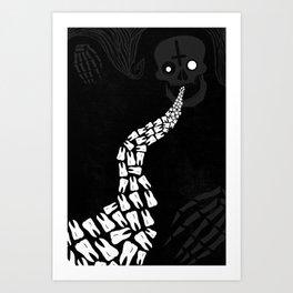 LOOSE TEETH Art Print