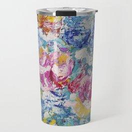 Abstract floral painting Travel Mug
