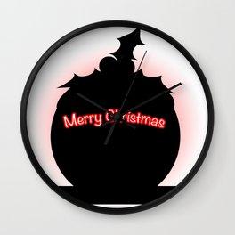 Christmas Pudding Silhouette Wall Clock