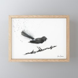 Coleraine Willy Wagtail Framed Mini Art Print