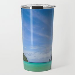 Thailand Beach with Fishing Boat Travel Mug