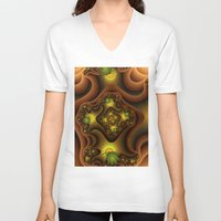 insects V-neck T-shirts featuring Abstract Insects, Fantasy Fractal by gabiw Art