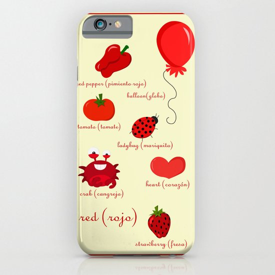 Colors: red (los colores: rojo) iPhone & iPod Case