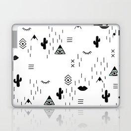 Indian summer aztec mayan symbol pattern Laptop & iPad Skin