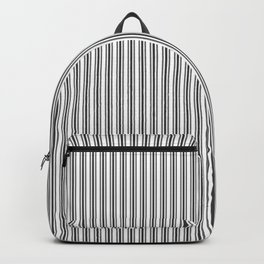 Trendy French Black and White Mattress Ticking Double Stripes Backpack