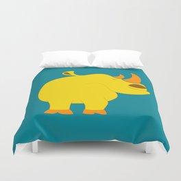 Happy rhino Duvet Cover