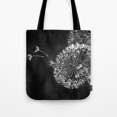 Dandelions, black & white Tote Bag
