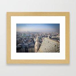 Vienna Cityscape from Stephansdom Framed Art Print