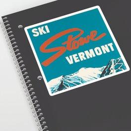 Stowe, Vermont Vintage Ski Poster Sticker
