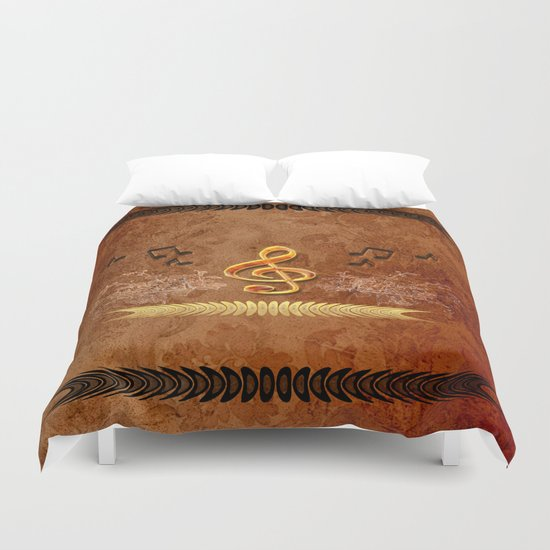 Music, clef Duvet Cover