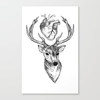 cargline Canvas Prints featuring Hipster Deer by cargline