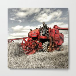 The Red Combine Metal Print