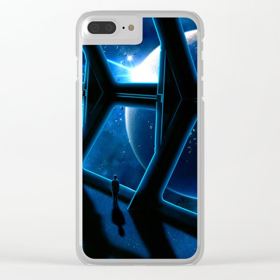 Space traveler Clear iPhone Case