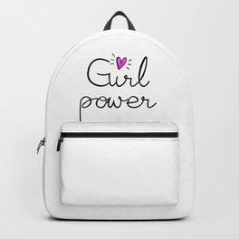 girl power - gliteer pink heart Backpack
