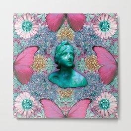 Green BB of the Butterflies Metal Print