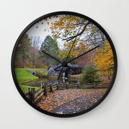 Mabry Mill In Autumn Wall Clock