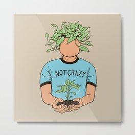 Plant Person Metal Print