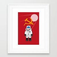 soviet Framed Art Prints featuring SOVIET by OSCAR GBP