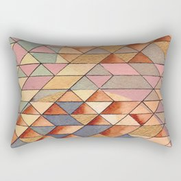 Triangles Circles Golden Sun Rectangular Pillow