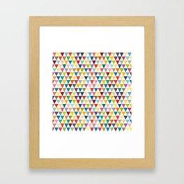 Colorul Triangles Framed Art Print