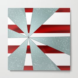 4Shades Glass: Red White Metal Print