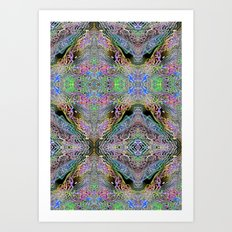 Neon Pinstripes 3 A Art Print