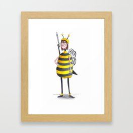 Miss Iona As A Bee Framed Art Print