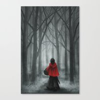 red hood Canvas Prints featuring Red Hood by Svenja Gosen
