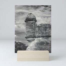 Castillo de San Marcos - black and white Mini Art Print