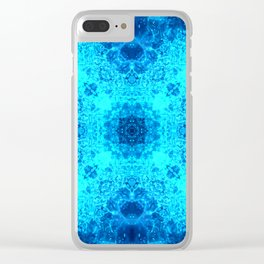 Abstract Blue Lacy Waves SB77 Clear iPhone Case