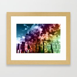 Q-City Three Framed Art Print