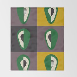 Avocado print Throw Blanket