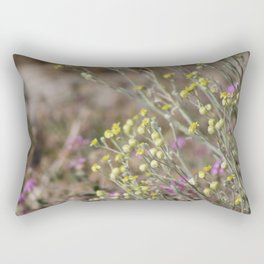 Desert Wildflowers and Gnat Coachella Preserve Rectangular Pillow