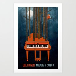 Moonlight Sonata - Beethoven Art Print