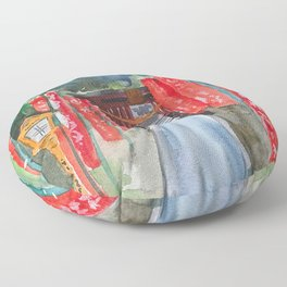 Shinto shrine entrance Floor Pillow