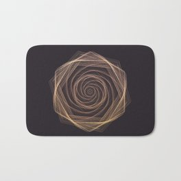 Geometric Rose Bath Mat