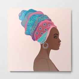 beautiful girl Africa Metal Print