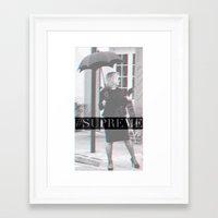 jessica lange Framed Art Prints featuring Jessica Lange Fiona Goode Supreme by NameGame
