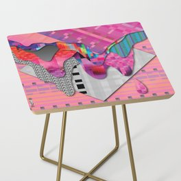 drippy pink Side Table
