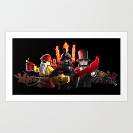 The Heroes of Zombie Zulu Dawn Art Print