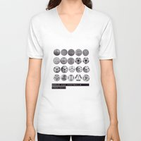 world cup V-neck T-shirts featuring World Cup Footballs by Thomas Orrow