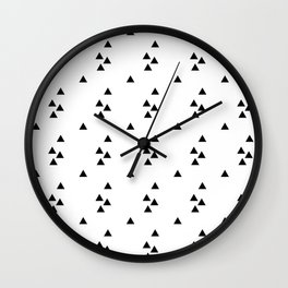Floating triangles Wall Clock