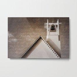 Seaside Steeple (Amazing Grace) Metal Print