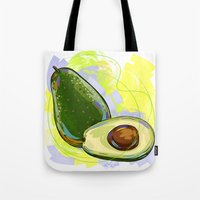 vietnam Tote Bags featuring Vietnam Avocado by Vietnam T-shirt Project