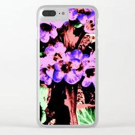 Vintage Purple Wildflower Clear iPhone Case