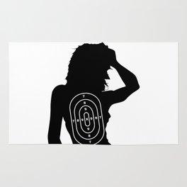 Female Human Shape Target Rug