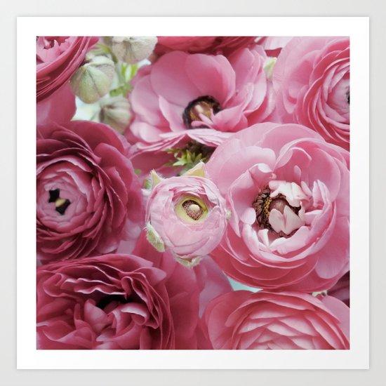 Bloom Sweetly - Rose Pink Art Print
