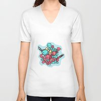 doodle V-neck T-shirts featuring Doodle by Frostwindz