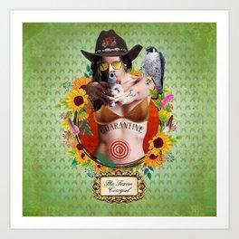 Quarantine 4 - The Texan Cowgirl Art Print